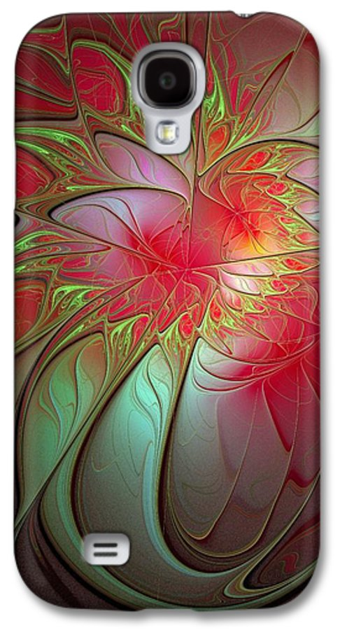 Digital Art Galaxy S4 Case featuring the digital art Vase Of Flowers by Amanda Moore
