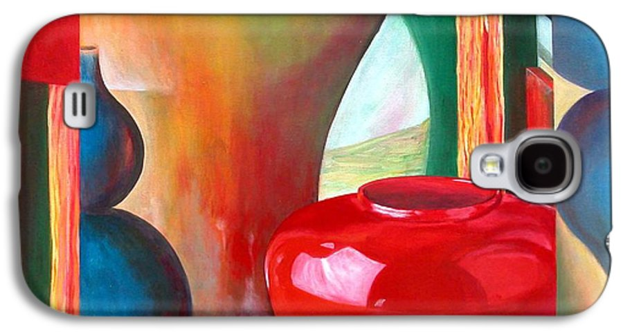 Still Life Galaxy S4 Case featuring the painting Vases by Muriel Dolemieux