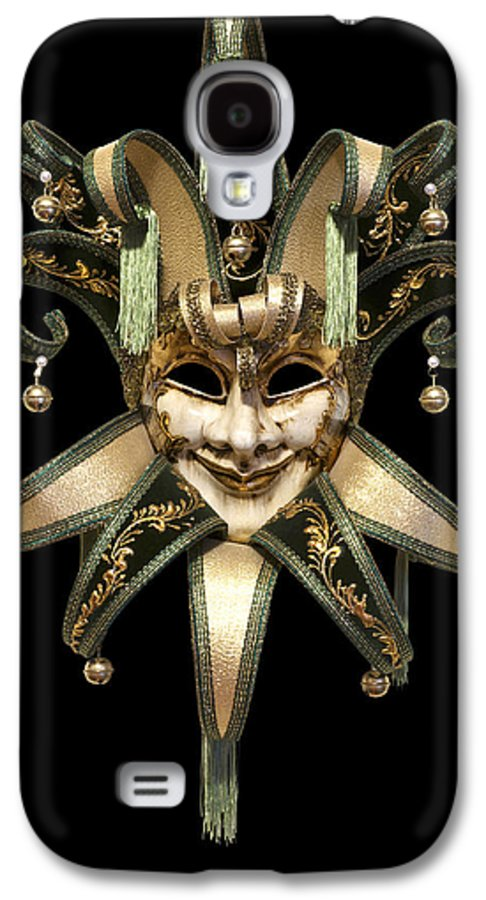 Black Background Galaxy S4 Case featuring the photograph Venetian Mask by Fabrizio Troiani
