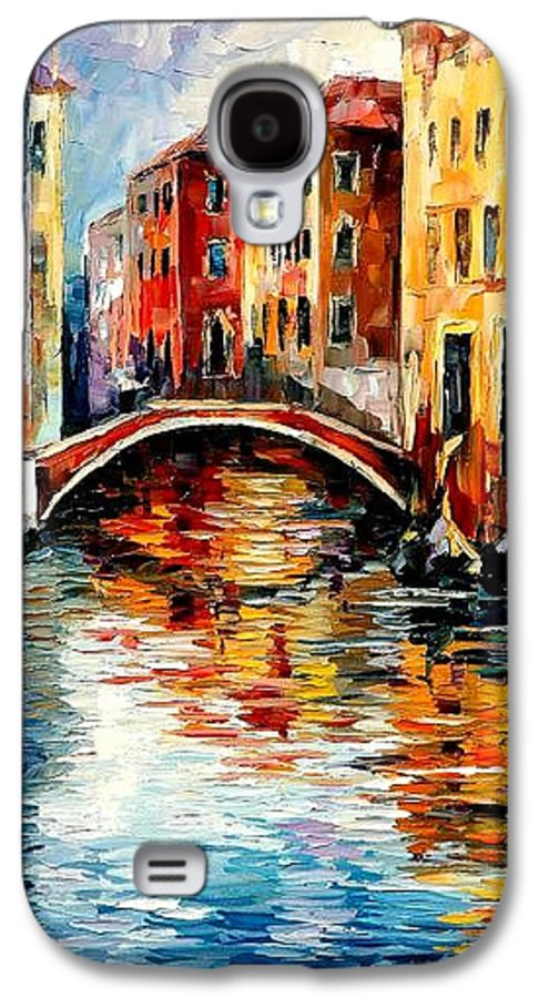 Landscape Galaxy S4 Case featuring the painting Venice by Leonid Afremov