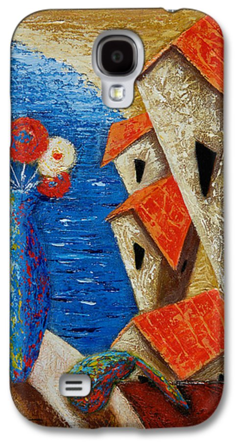 Landscape Galaxy S4 Case featuring the painting Ventana Al Mar by Oscar Ortiz
