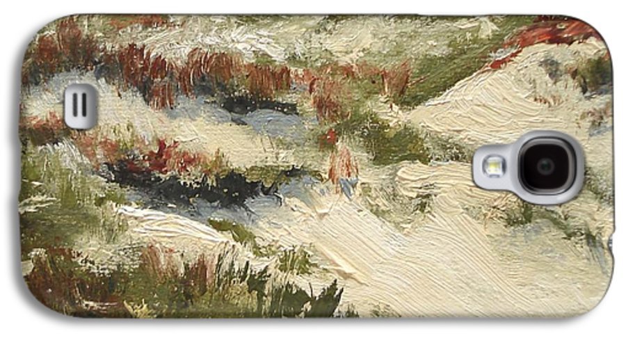 Water Galaxy S4 Case featuring the painting Ventura Dunes II by Barbara Andolsek