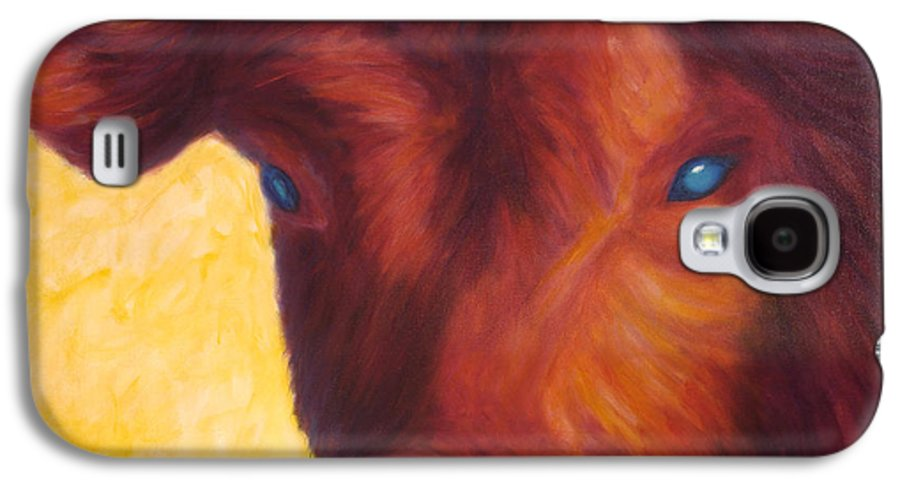 Bull Galaxy S4 Case featuring the painting Vern by Shannon Grissom