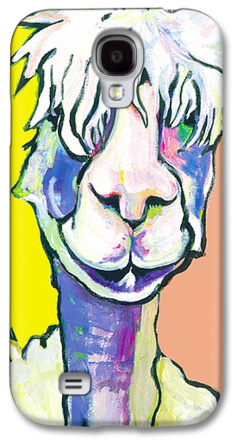 Mountain Animal Galaxy S4 Case featuring the painting Veronica by Pat Saunders-White