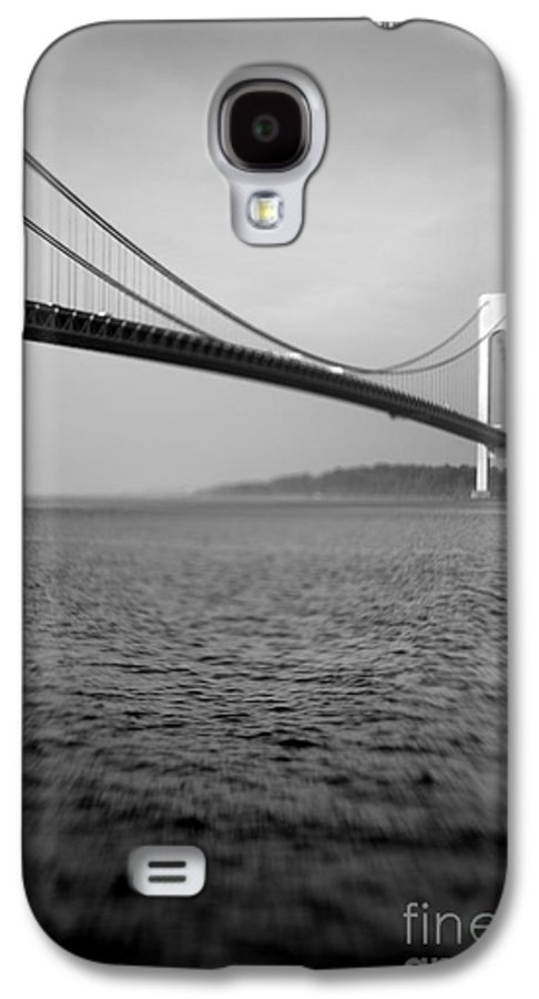 Black & White Galaxy S4 Case featuring the photograph Verrazano Bridge 1 by Tony Cordoza