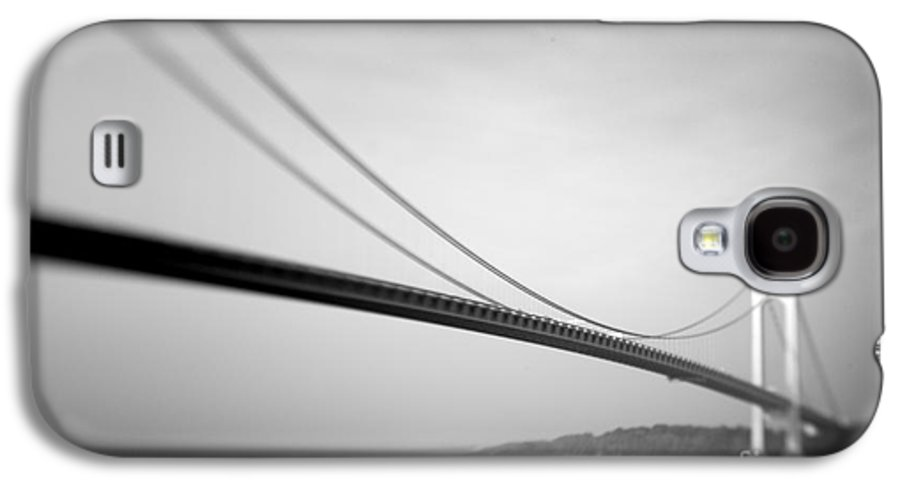 Black & White Galaxy S4 Case featuring the photograph Verrazano Bridge 2 by Tony Cordoza