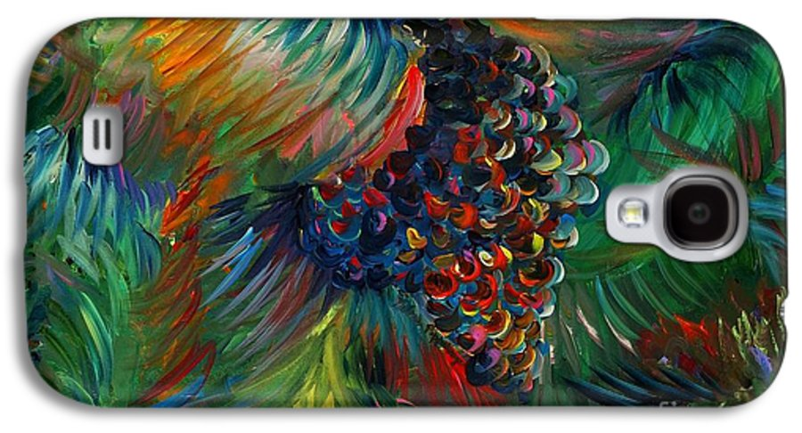 Grapes Galaxy S4 Case featuring the painting Vibrant Grapes by Nadine Rippelmeyer