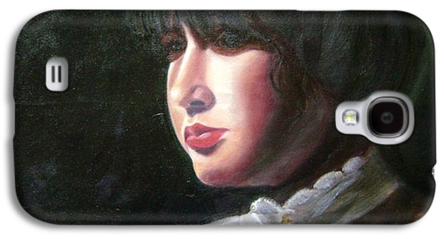 Girl In White Blouse Galaxy S4 Case featuring the painting Victorian Blouse by Toni Berry