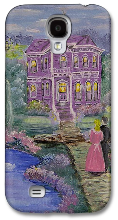Victorian Galaxy S4 Case featuring the painting Victorian Romance 1 by Quwatha Valentine