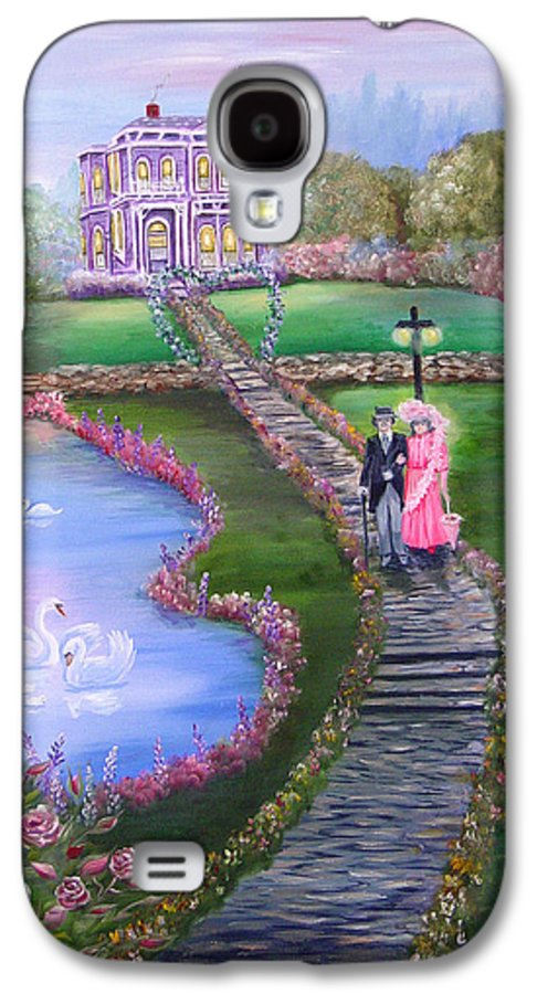 Victorian Galaxy S4 Case featuring the painting Victorian Romance 2 by Quwatha Valentine