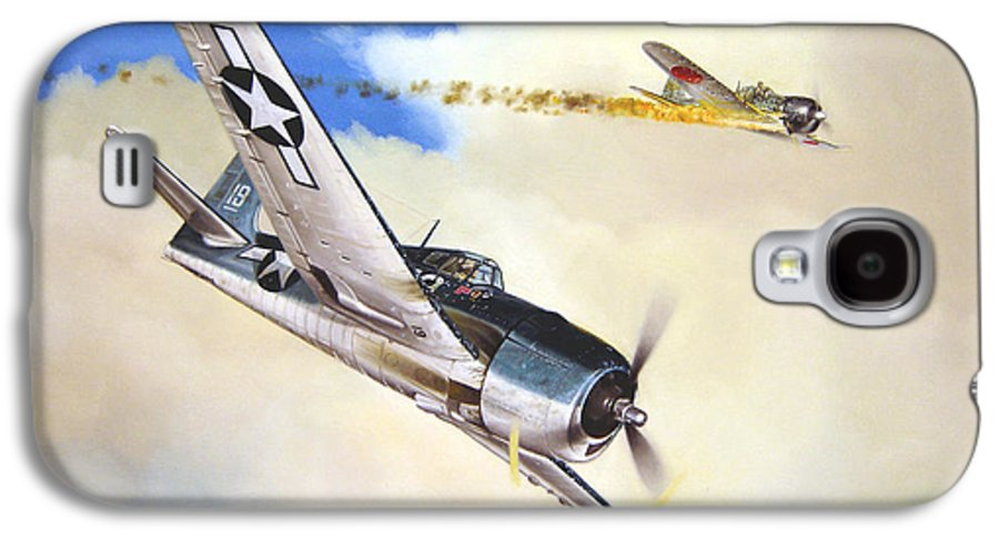 Military Galaxy S4 Case featuring the painting Victory For Vraciu by Marc Stewart