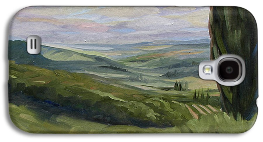Landscape Galaxy S4 Case featuring the painting View From Sienna by Jay Johnson