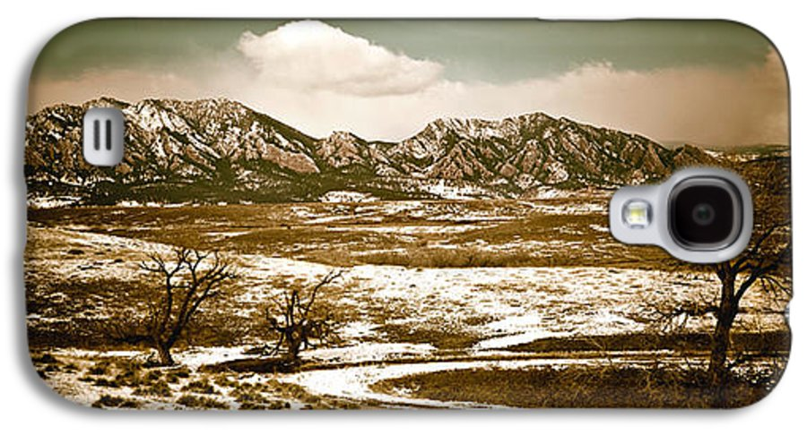 Landscape Galaxy S4 Case featuring the photograph Flatironsview From Superior by Marilyn Hunt