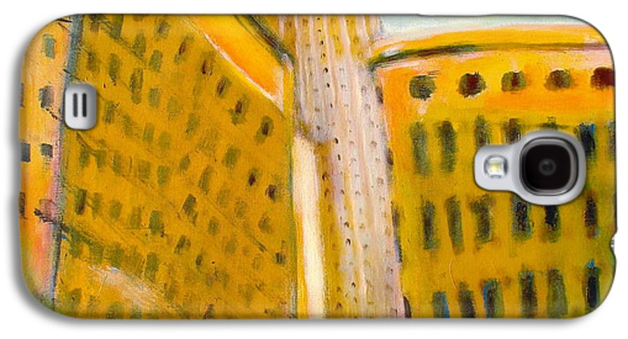 Abstract Cityscape Galaxy S4 Case featuring the painting View From The 33 St by Habib Ayat