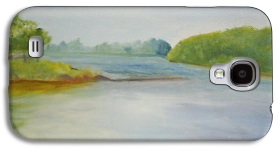 Delaware River Galaxy S4 Case featuring the painting View Of The Delaware by Sheila Mashaw