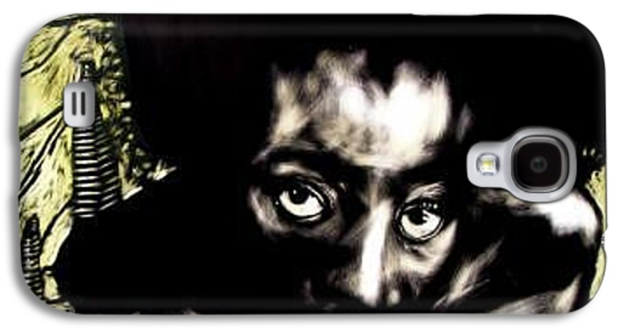 Portriat Galaxy S4 Case featuring the mixed media View Of The Unseen by Chester Elmore