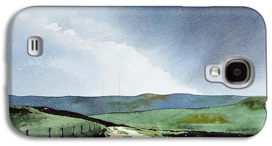 Landscape Galaxy S4 Case featuring the painting View Over Pole Moor by Paul Dene Marlor