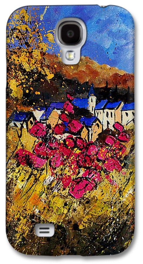 Flowers Galaxy S4 Case featuring the painting Village 450808 by Pol Ledent