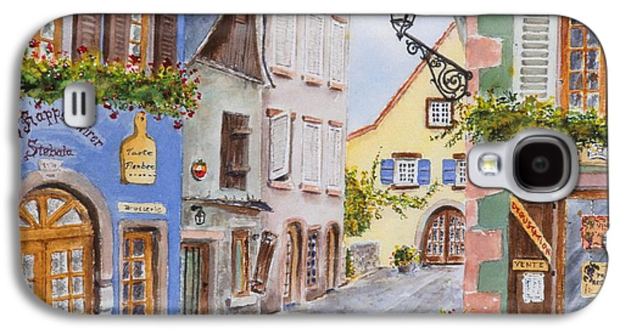 Village Galaxy S4 Case featuring the painting Village In Alsace by Mary Ellen Mueller Legault
