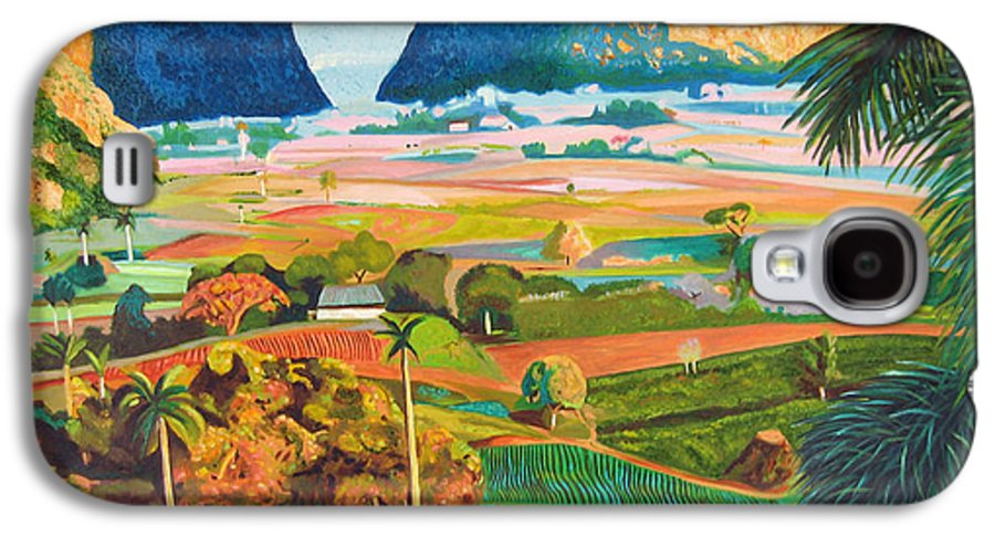 Cuban Art Galaxy S4 Case featuring the painting Vinales by Jose Manuel Abraham