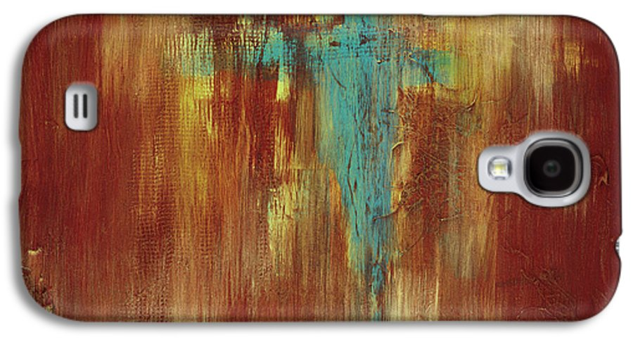 Abstract Galaxy S4 Case featuring the painting Vision Quest by Tara Moorman