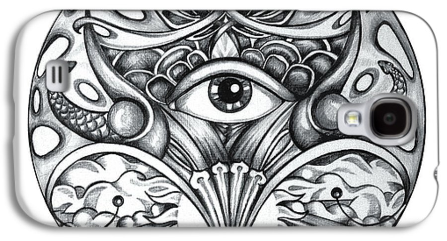 Eye Galaxy S4 Case featuring the drawing Vision by Shadia Derbyshire