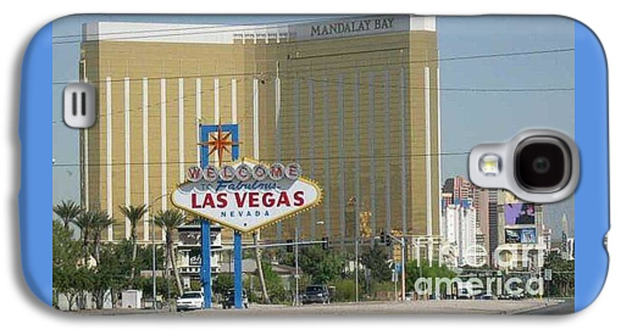 Vegas Galaxy S4 Case featuring the photograph Viva Las Vegas by Barb Montanye Meseroll