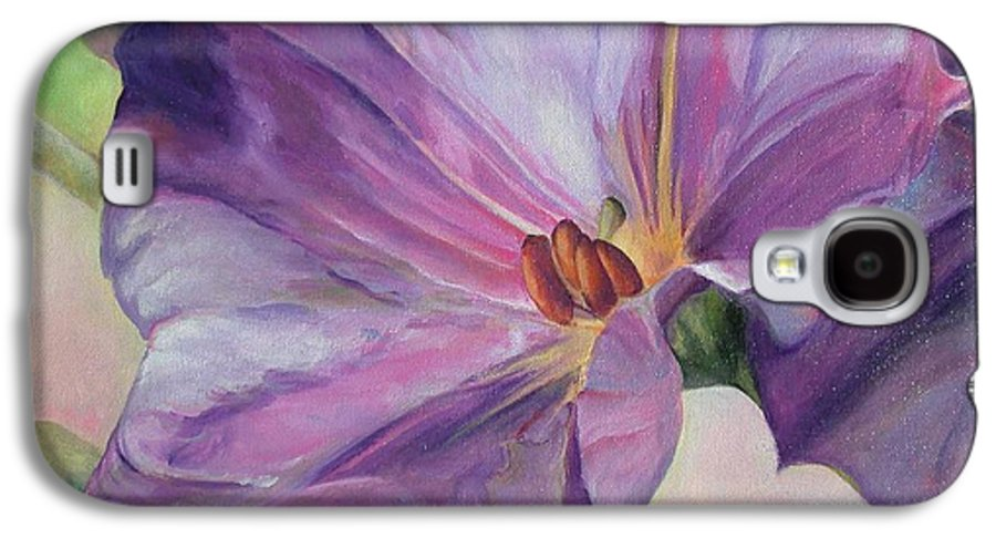 Floral Painting Galaxy S4 Case featuring the painting Volubilis by Muriel Dolemieux