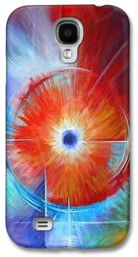 Clouds Galaxy S4 Case featuring the painting Vortex by James Christopher Hill