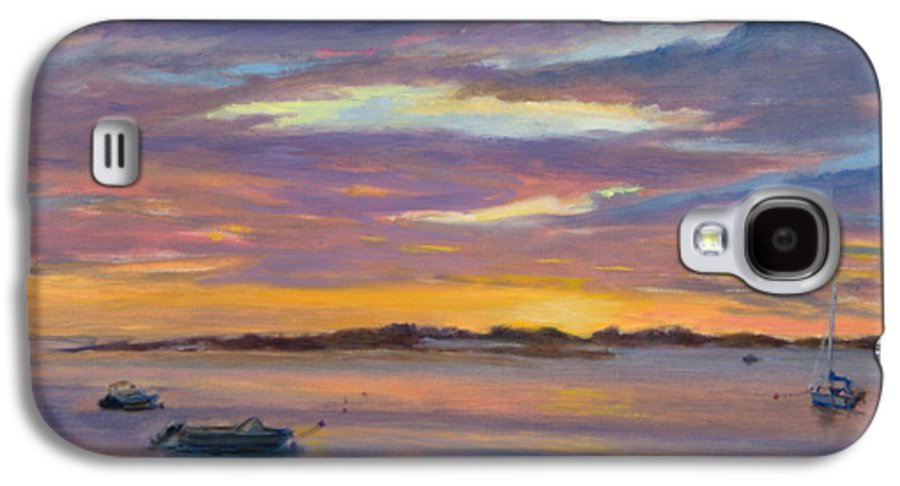 Landscape Galaxy S4 Case featuring the painting Wades Beach Sunset by Phyllis Tarlow