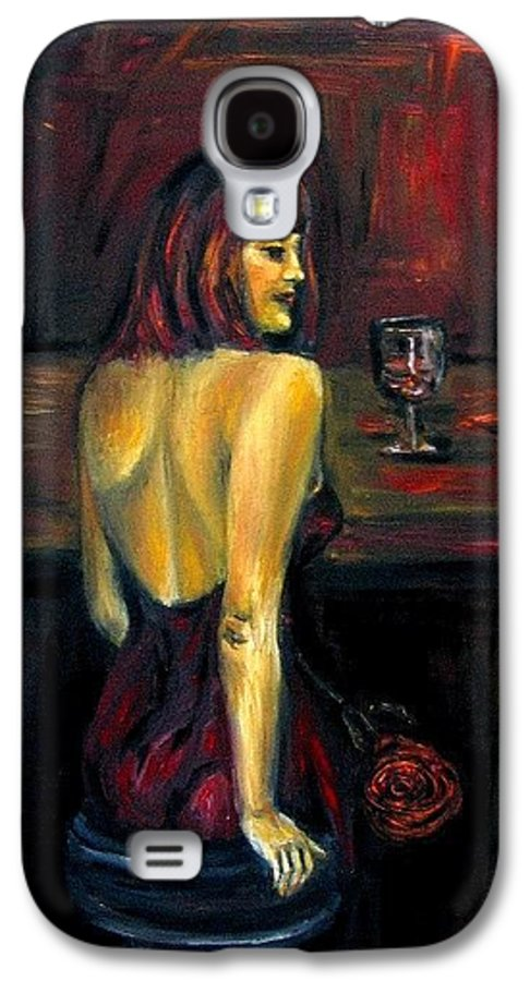 Woman Galaxy S4 Case featuring the painting Waiting... Oil Painting  by Natalja Picugina