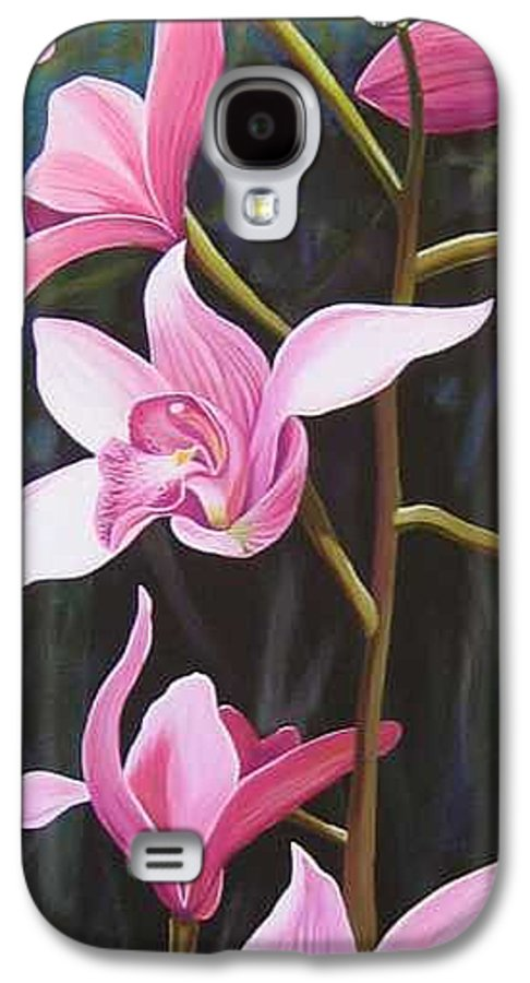 Orchids In Italy Galaxy S4 Case featuring the painting Waking Up In The Sun by Hunter Jay