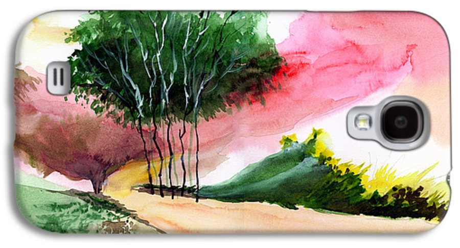 Watercolor Galaxy S4 Case featuring the painting Walk Away by Anil Nene