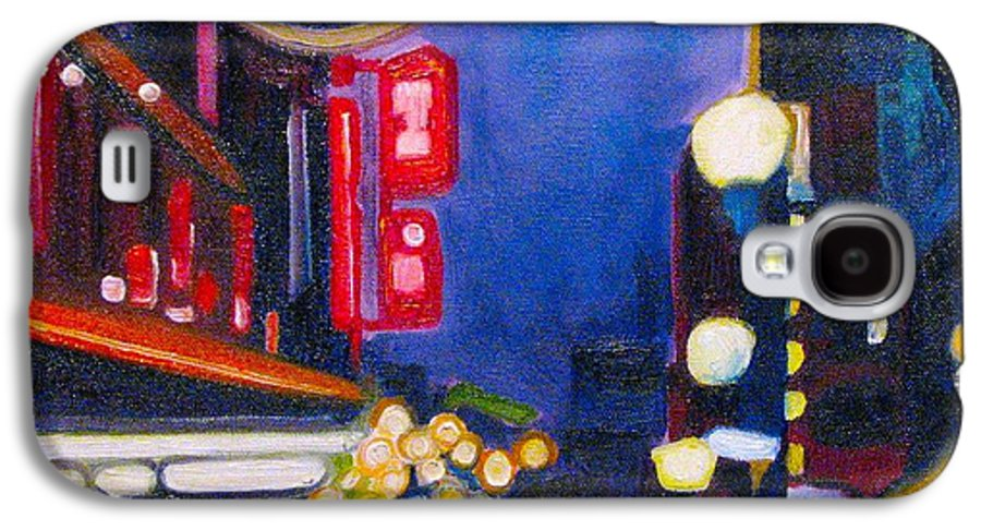 Night Scene Galaxy S4 Case featuring the painting Wandering At Dusk by Patricia Arroyo