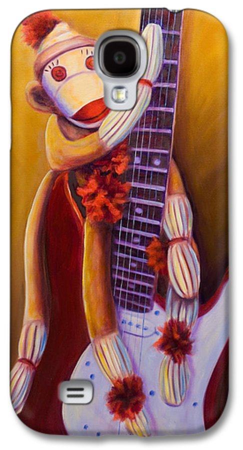 Monkey Galaxy S4 Case featuring the painting Wanna Be A Rocker by Shannon Grissom