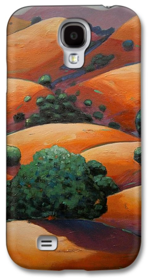 California Landscape Galaxy S4 Case featuring the painting Warm Afternoon Light On Ca Hillside by Gary Coleman
