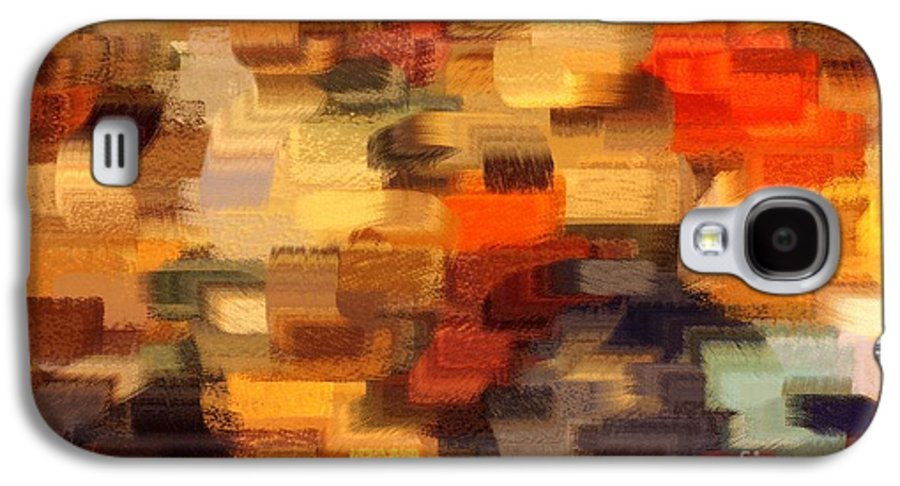 Abstract Galaxy S4 Case featuring the photograph Warm Colors Abstract by Carol Groenen