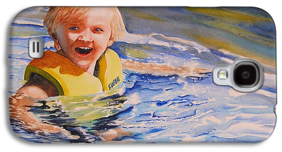Swimming Galaxy S4 Case featuring the painting Water Baby by Karen Stark