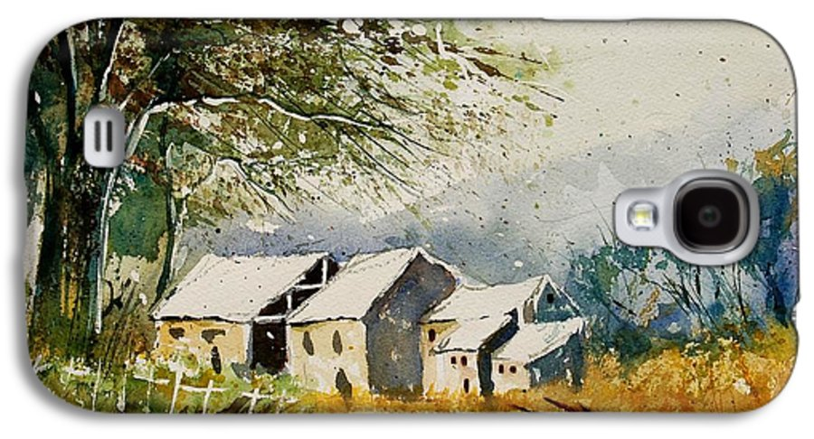 Landscape Galaxy S4 Case featuring the painting Watercolor 010708 by Pol Ledent