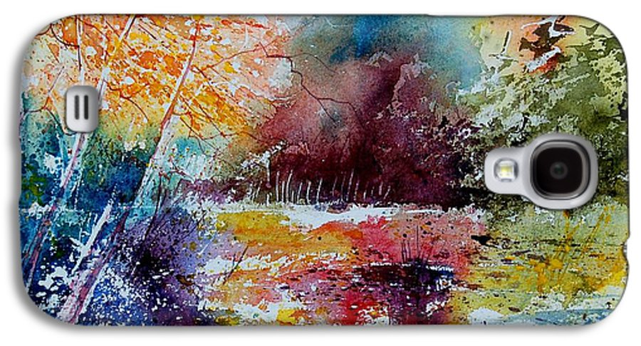 Pond Galaxy S4 Case featuring the painting Watercolor 140908 by Pol Ledent