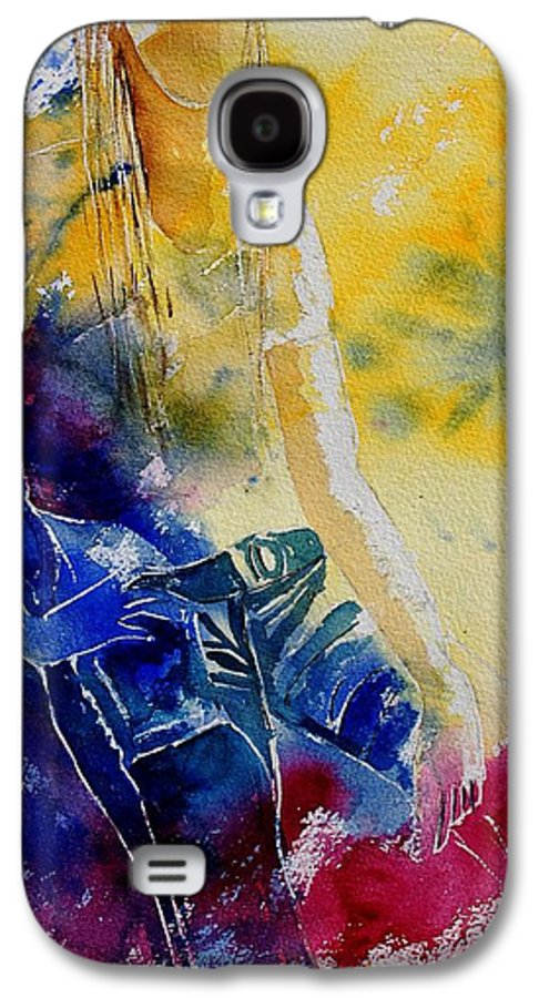 Girl Nude Galaxy S4 Case featuring the painting Watercolor 21546 by Pol Ledent