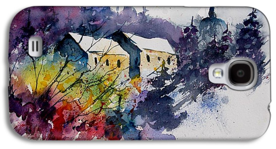 River Galaxy S4 Case featuring the painting Watercolor 231207 by Pol Ledent