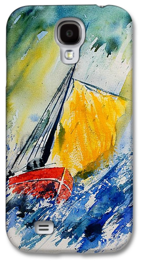 Sea Waves Ocean Boat Sailing Galaxy S4 Case featuring the painting Watercolor 280308 by Pol Ledent
