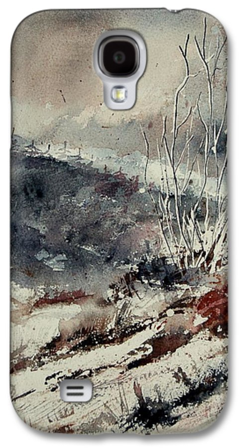 Snow Galaxy S4 Case featuring the print Watercolor 446 by Pol Ledent