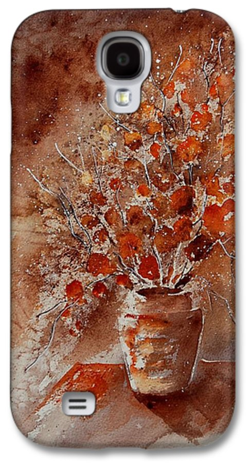 Poppies Galaxy S4 Case featuring the painting Watercolor Autumn Bunch by Pol Ledent