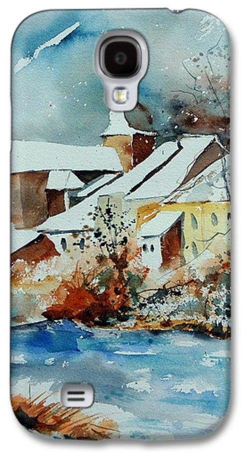 Landscape Galaxy S4 Case featuring the painting Watercolor Chassepierre by Pol Ledent