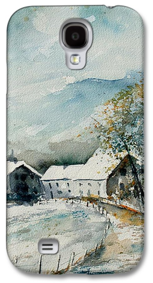 River Galaxy S4 Case featuring the painting Watercolor Sechery 1207 by Pol Ledent