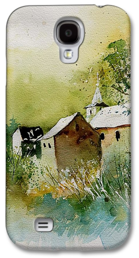 Landscape Galaxy S4 Case featuring the painting Watercolor Sosoye by Pol Ledent
