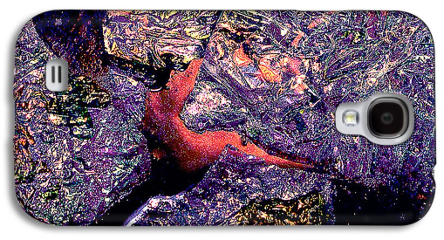 Water Galaxy S4 Case featuring the photograph Waterdrop Abstract by Nancy Mueller