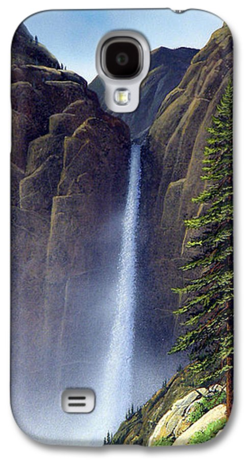 Wilderness Galaxy S4 Case featuring the painting Waterfall by Frank Wilson